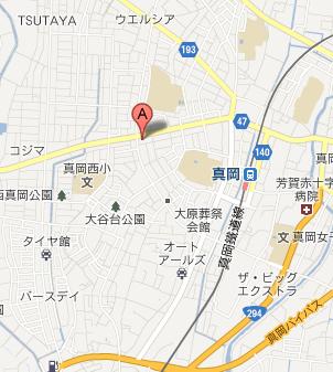 はんこ屋さん21真岡店MAP